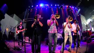 """Cabbage Alley""  New Orleans Suspects with The Bonerama Horns,  Fiya Fest, May, 2013"